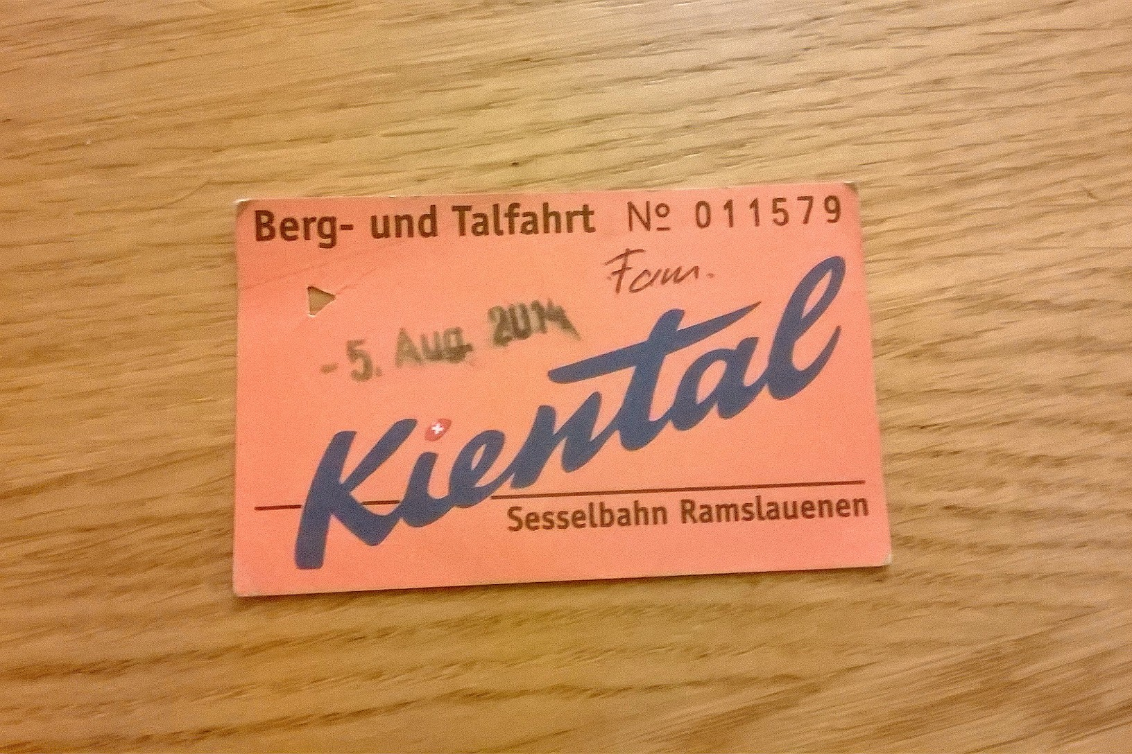 chairlift ticket kiental
