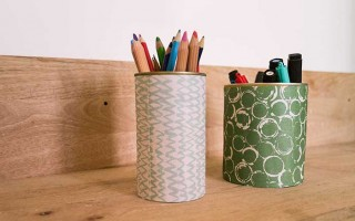 DIY Tin Can Pencil Holders