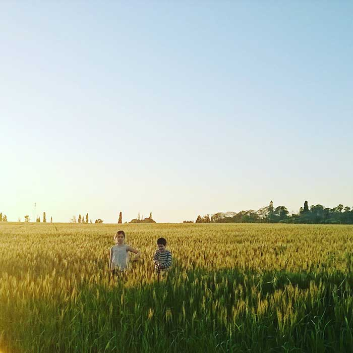 kids in the field