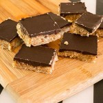 Chocolate Squares with Dates, Nuts and Coconut