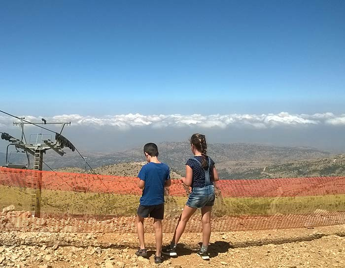 At the highest point in Israel Mount Hermon